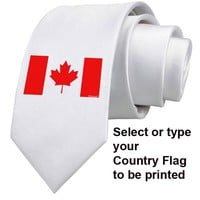 Country Flag Necktie Your Country Tie