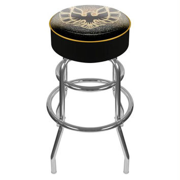 Pontiac Firebird Black Padded Swivel Bar Stool
