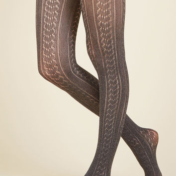 Textured Final Touch Tights | Mod Retro Vintage Tights | ModCloth.com