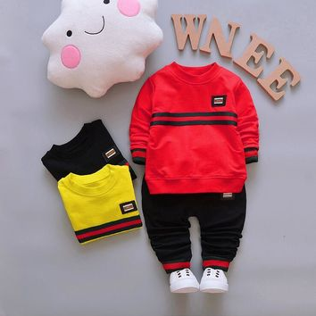girl tracksuits costume Giraffe pattern boys toddler children's sweatshirts clothing sets Baby Suit for Kid 0-3 Years