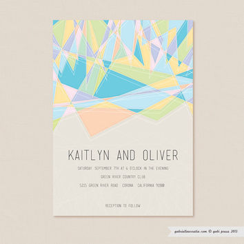 Free  Printable Invitation 5 x 7 Card by gabipress on Etsy