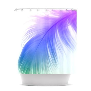 "Alison Coxon ""Feather Colour"" Shower Curtain"
