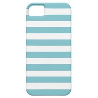 Blue Curacao And White Stripes iPhone 5 Cover from Zazzle.com