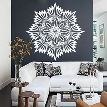 Mandala Wall Art Decals Indian Pattern Yoga Oum Om Sign Decal Vinyl Stickers Home Decor Murals Bedroom Studio Window MN865