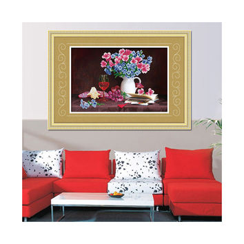 5D Cross Stitch Diamond Painting Diamond Stitch European Oil Painting Living Room Bedroom Dining Room Hanging Painting Elegant Fragrance