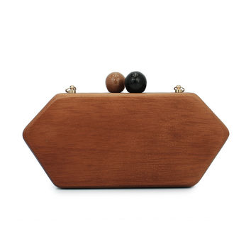 wooden luxury handbag evening bag clutch  for party purse