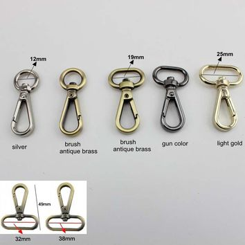 30PCS High Quality Swivel Dog Buckle Handbag hardware Metal Clasp For bag Trigger Snap Hook Buckle Luggage DIY Accessories