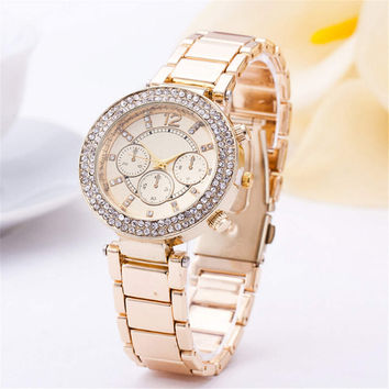 Womens Fashion Luxury Sports Diamond Watch