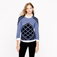 Pre-order Handknit tile sweater