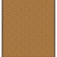 Cognac Sisal Rug with Serged Border (Color 518)