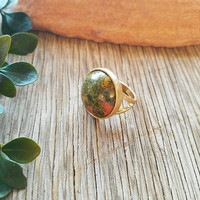 Earthy Semi Precious Stone Ring