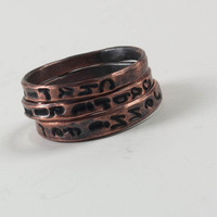 Mother's Rings Personalized Copper Rings Hand Stamped Mommy Jewelry Mother's Day Gifts