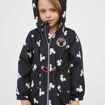 Outdoor Jacket with Hood - Black/Minnie Mouse - Kids | H&M US