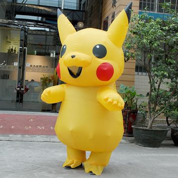 Halloween cosplay costumes for women inflatable pikachu costume adult Child pokemon cosplay costumes Onesuit mascot