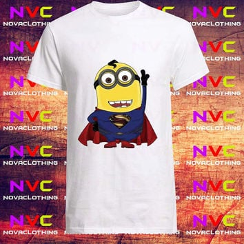Superman Minion tshirt -Tshirt Unisex Adult, Tshirt Youth, kids clothes, Mens Tshirt, Womens Tshirt, Boys tshirt, Girls tshirt