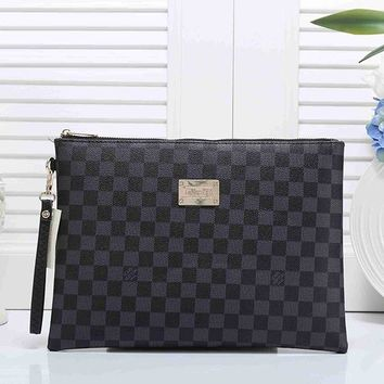 Louis Vuitton LV Women Leather Clutch Bag Handbag Tote Satchel