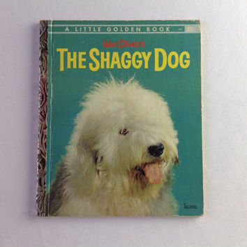 Vintage Disney The Shaggy Dog Little Golden Book 1959