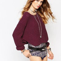 Somedays Lovin Strabo Chunky Off Shoulder Jumper