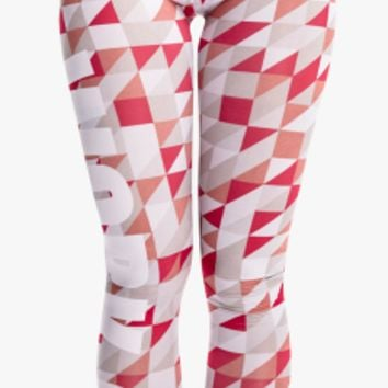 Zohra Fashion Sexy Women Legging Triangle Gray Red Printing Leggings Cozy Slim High Waist Woman Pants