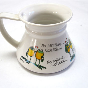 No Spill Coffee Cup Mug Frogs