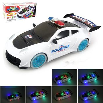 "9"" Police Car 360 Rotate with Music & Light New"