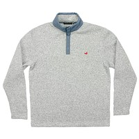FieldTec Woodford Snap Pullover in Avalanche Gray by Southern Marsh