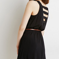 Belted Ladder-Back Dress