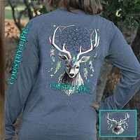 Country Life Outfitters Preppy Feather Deer Dream Long Sleeve T-Shirt