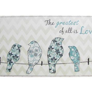 Turquoise, White & Gray Birds on Wire Canvas | Shop Hobby Lobby