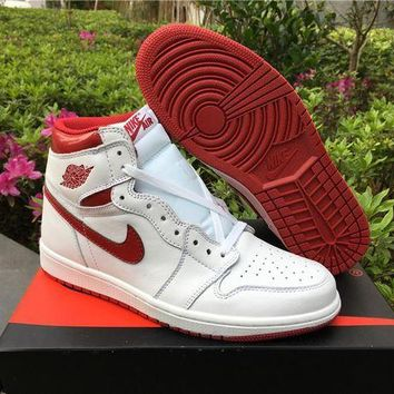UCANUJ3V Air Jordan 1 OG High ¡°Metallic Red¡± Men Basketball Sneaker US Size 7-13
