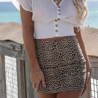 So True Leopard Mini Skirt