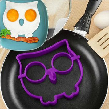 Breakfast Silicone Smile Skull Owl Fried Egg Mold Pancake Egg Ring Shaper Funny Creative Kitchen Tool