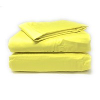 Tache 2-3 Piece Cotton Lemon Drop Yellow Bed Sheet (Fitted Sheet) (BS3PC-YY)