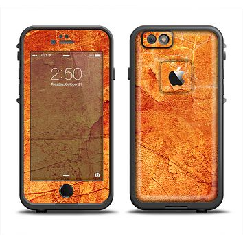 The Orange Cracked & Scratched Surface Apple iPhone 6 LifeProof Fre Case Skin Set