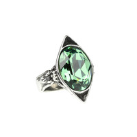 Dark Envy. Emerald Green SWAROVSKI™ Crystal Ring