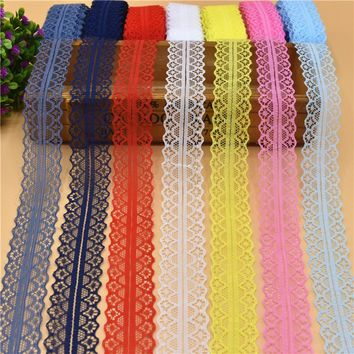 10 Yards Beautiful Lace Ribbon Tape 28MM Lace Trim Fabric DIY Embroidered Net Lace For Sewing Decoration 15 Colors lace fabric