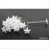 Gorgeous White Flower Hair Pins - Set of 20! Bridal/Bridesmaid Jewelry - Wedding Accessories