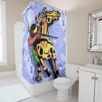 Apache Trail #1, Native American on Horseback Shower Curtain
