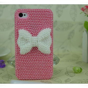 Pearl butterfly  iPhone case iPhone 5 case, iPhone 4 case, iphone 4s case, Bling iPhone 5 case,iphone 5 cover iphone 4s cover