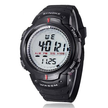 Fashion Men Sport Watches SYNOKE Brand LED Electronic Digital Watch Life Waterproof Outdoor Dress Wristwatches Military Watch