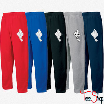 Comic Hands Playing Cards, Dice Sweatpants