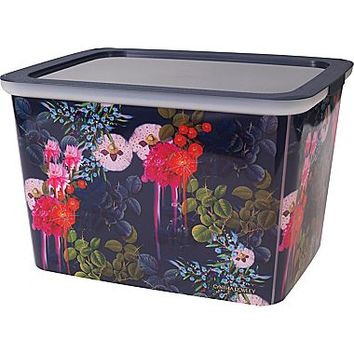 Cynthia Rowley 10 Storage Box, Dark Blue Floral