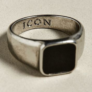 Icon Brand Sign Times Signet Ring | Urban Outfitters