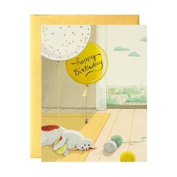 Cat & Yarns Birthday Card