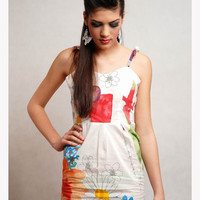 SALE! Flower printed pattern mini dress