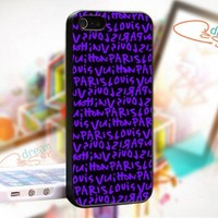 Louis Vuitton Paris PURPLE - design for iPhone 4/4S Black case