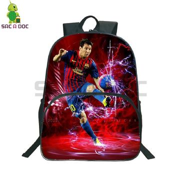 Popular Star Messi 10 Printed School Bag Women Men Daily Backpack Laptop Backpack for Teenagers Students Travel Shoulder BagsKawaii Pokemon go  AT_89_9