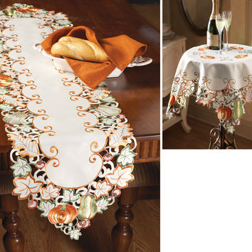Autumn Harvest Diecut Decorative Table Linens