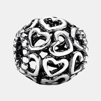 Women's PANDORA 'Moments - Open Your Heart' Charm - Sterling Silver
