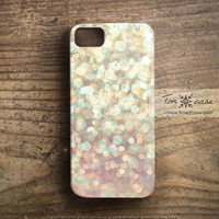 Sparkle iPhone 4 case - glitter iPhone 4s case, spangle iPhone 5 case, bright, opal, pink, circle, shine, light - sparkle glow glitter (c98)